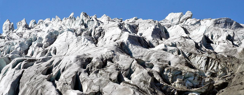 Für immer verloren, sind diese herrlichen Eistürme  der Gletscherzunge des Feegletschers und ...