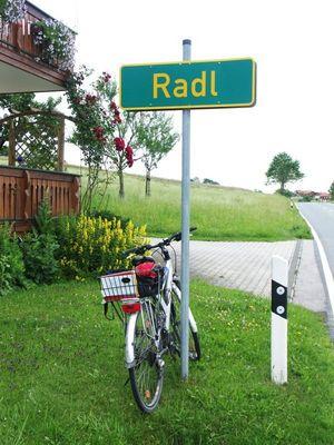 Für Nicht-Bayern: Radl = Fahrrad