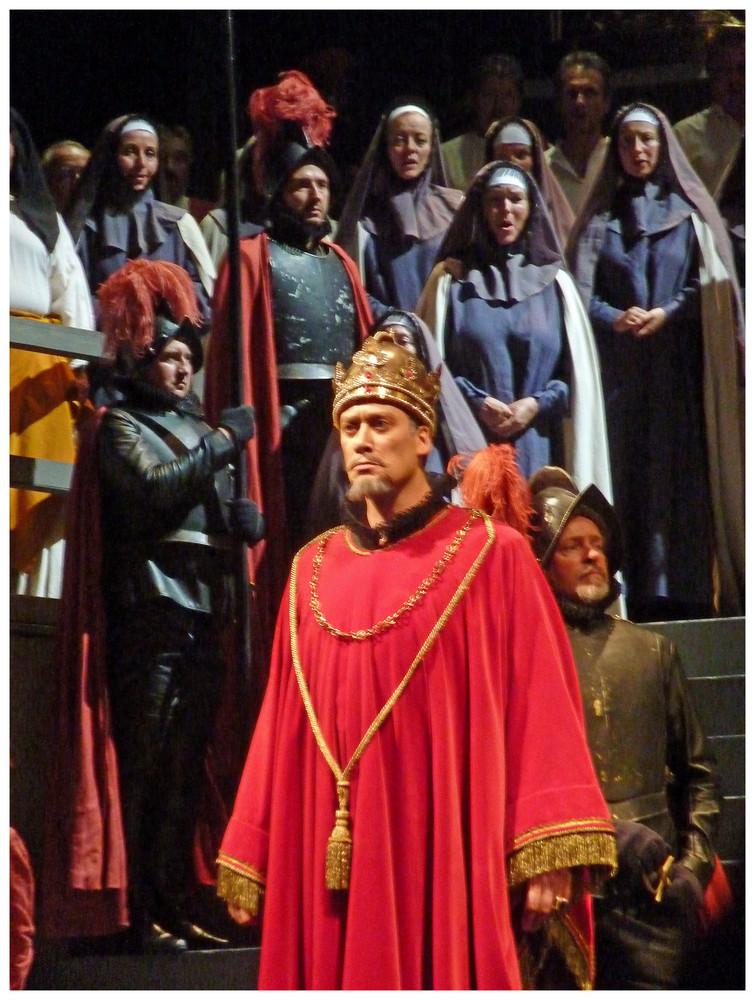 Für opernliebhaber - szene aus Don Carlo von giuseppe verdi -König PhilliP II