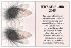 FÜR'S NEUE JAHR 2016