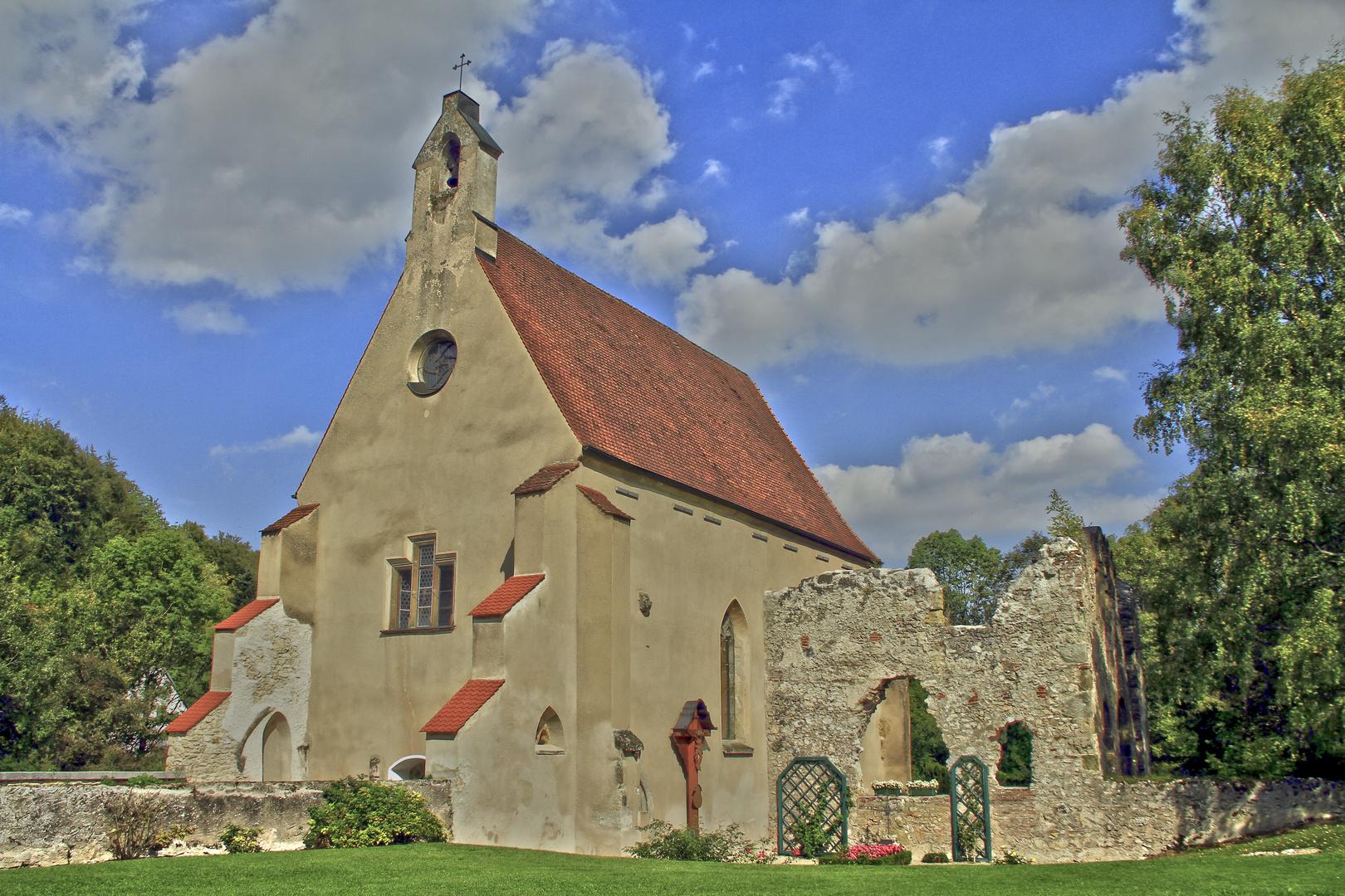 fürstliche Kapelle Christgarten, Donau Ries, diesmal in HDR-Tonung