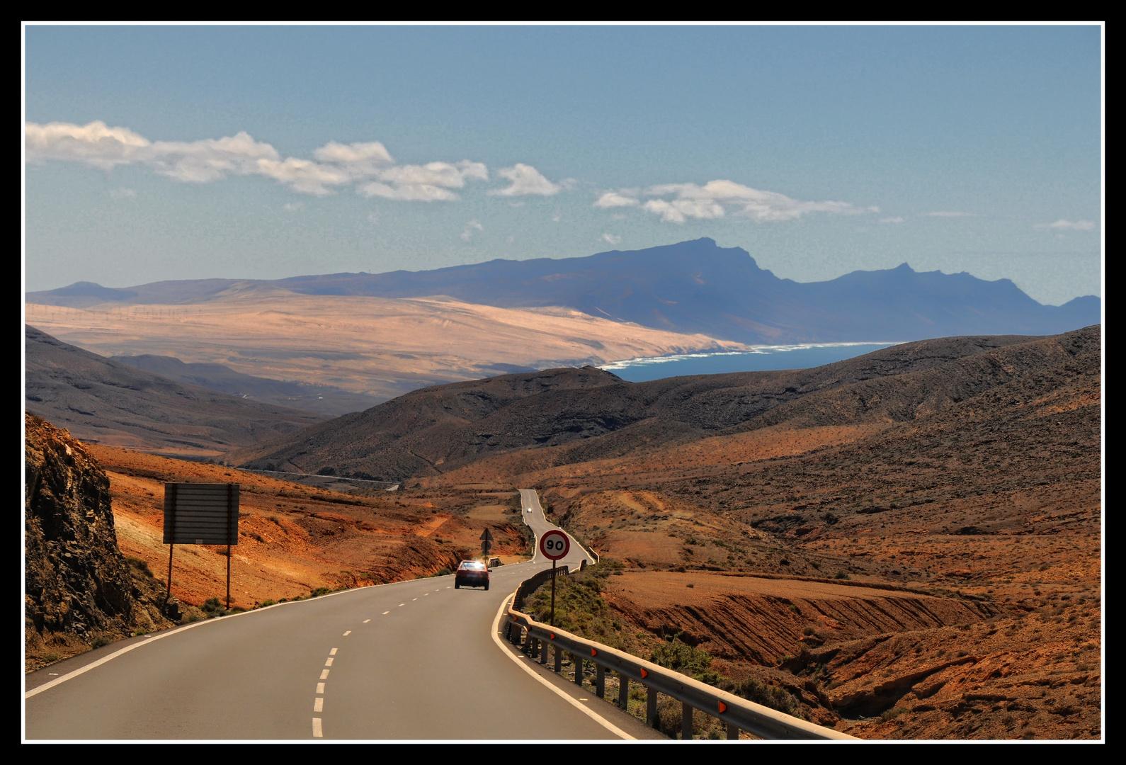 Fuerteventura - Auf der Straße nach Parete