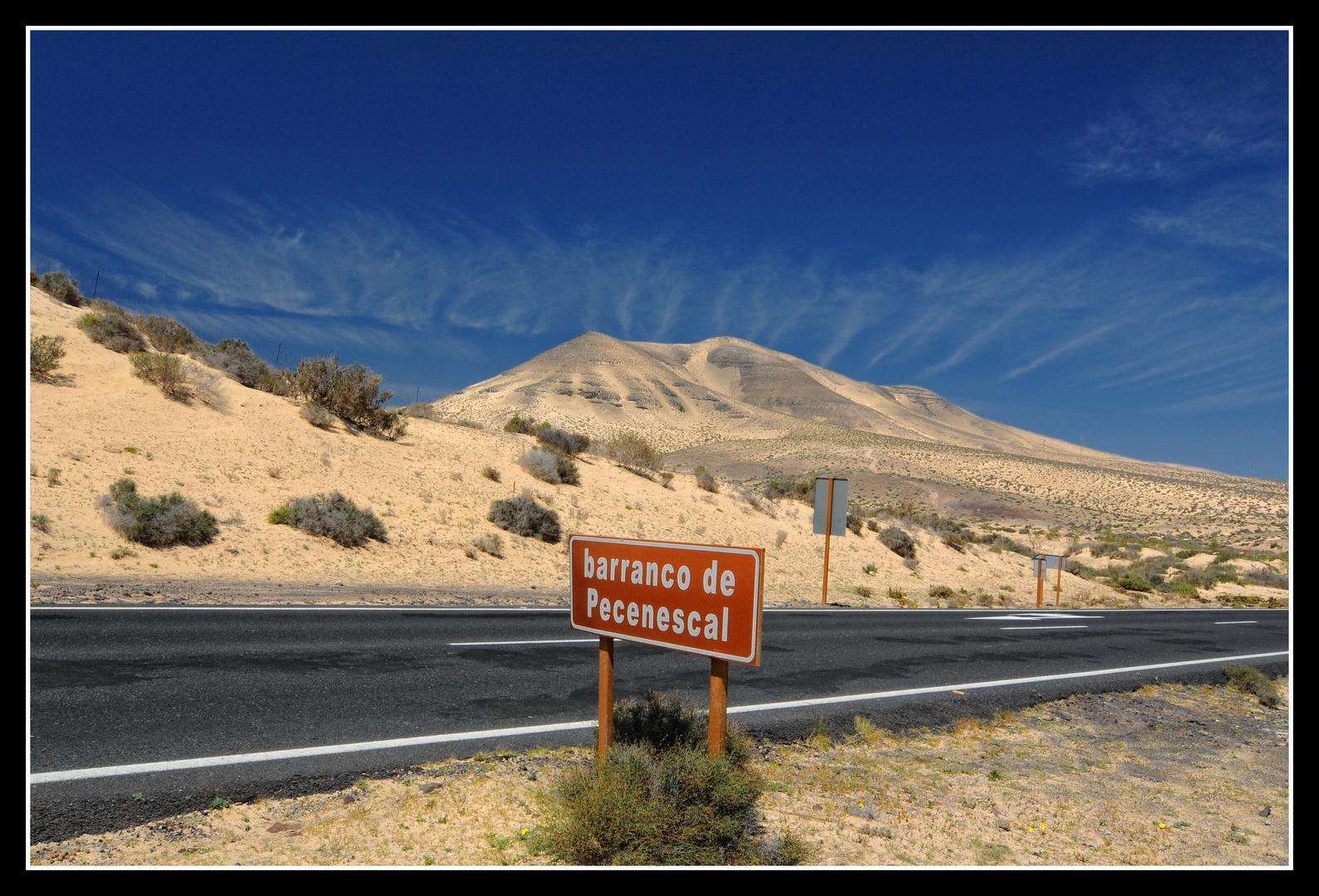 Fuerteventura - barranco de Pecenescal