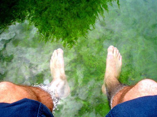 Füsschen unter Wasser, Köpfchen in der Höh