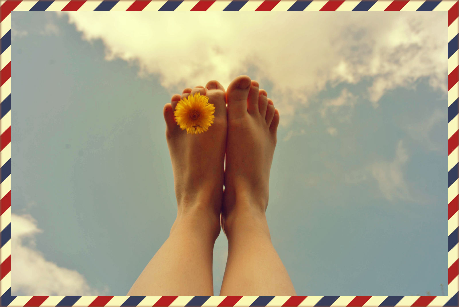 Füße auf reisen