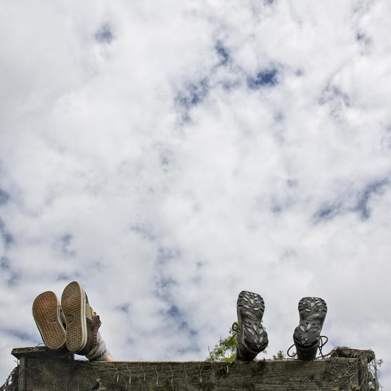 Füße hochlegen