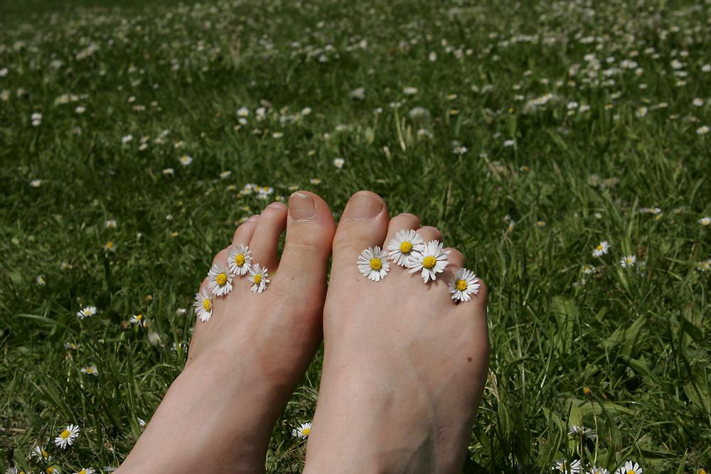 Füße im Glück