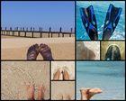 Füße und Meer