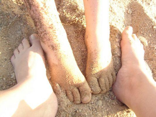 Füßeln im Sand ;-)