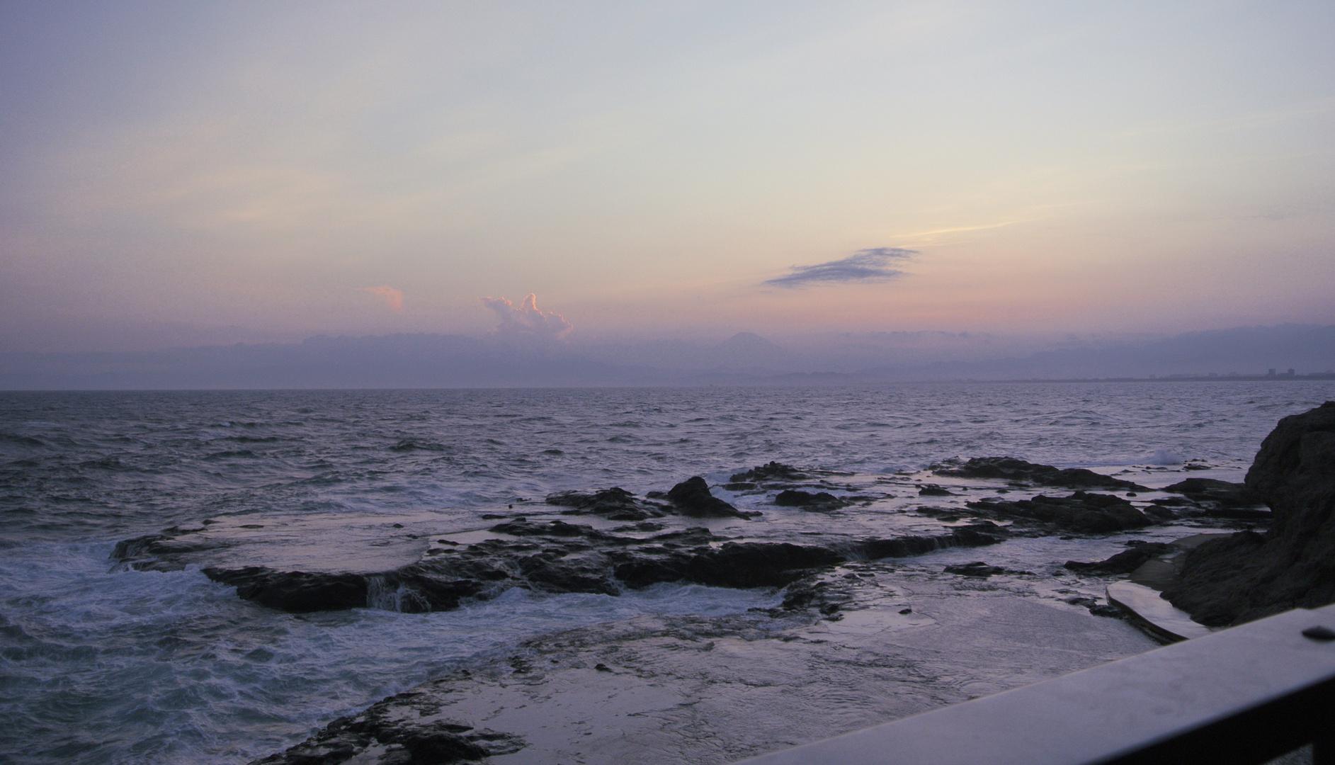 Fuji. Showdown bei Sonnenuntergang.