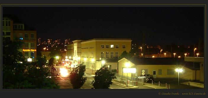 Fulderaner Bahnhof bei Nacht