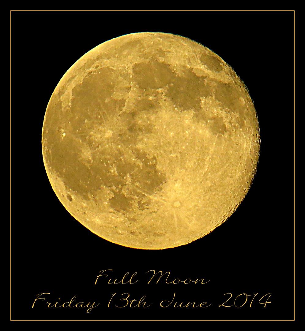 Full Moon Friday 13th 2014