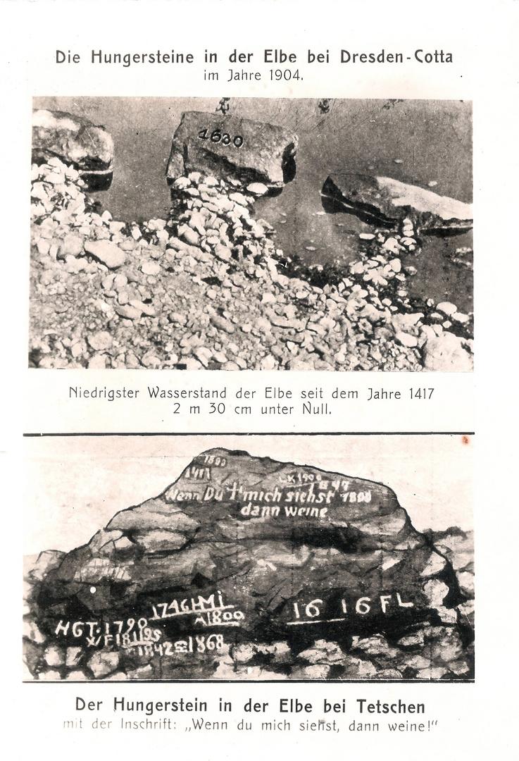 Fund No. 2: Niedrigwasser der Elbe im Jahre 1904