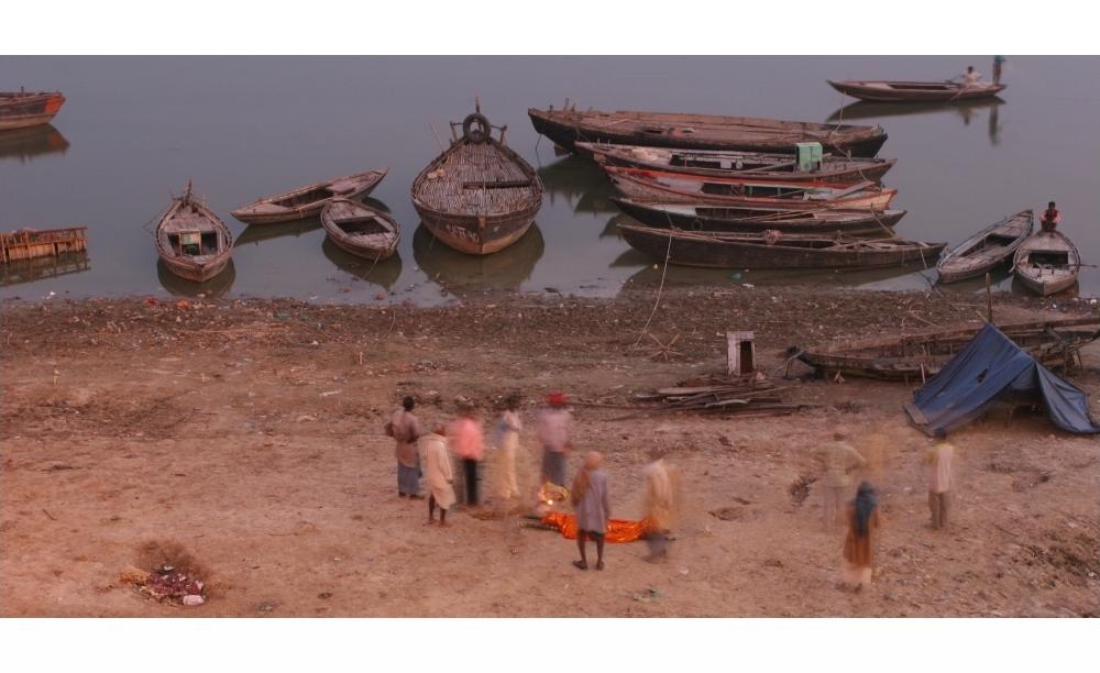 funeral at the Ganga in Varanasi