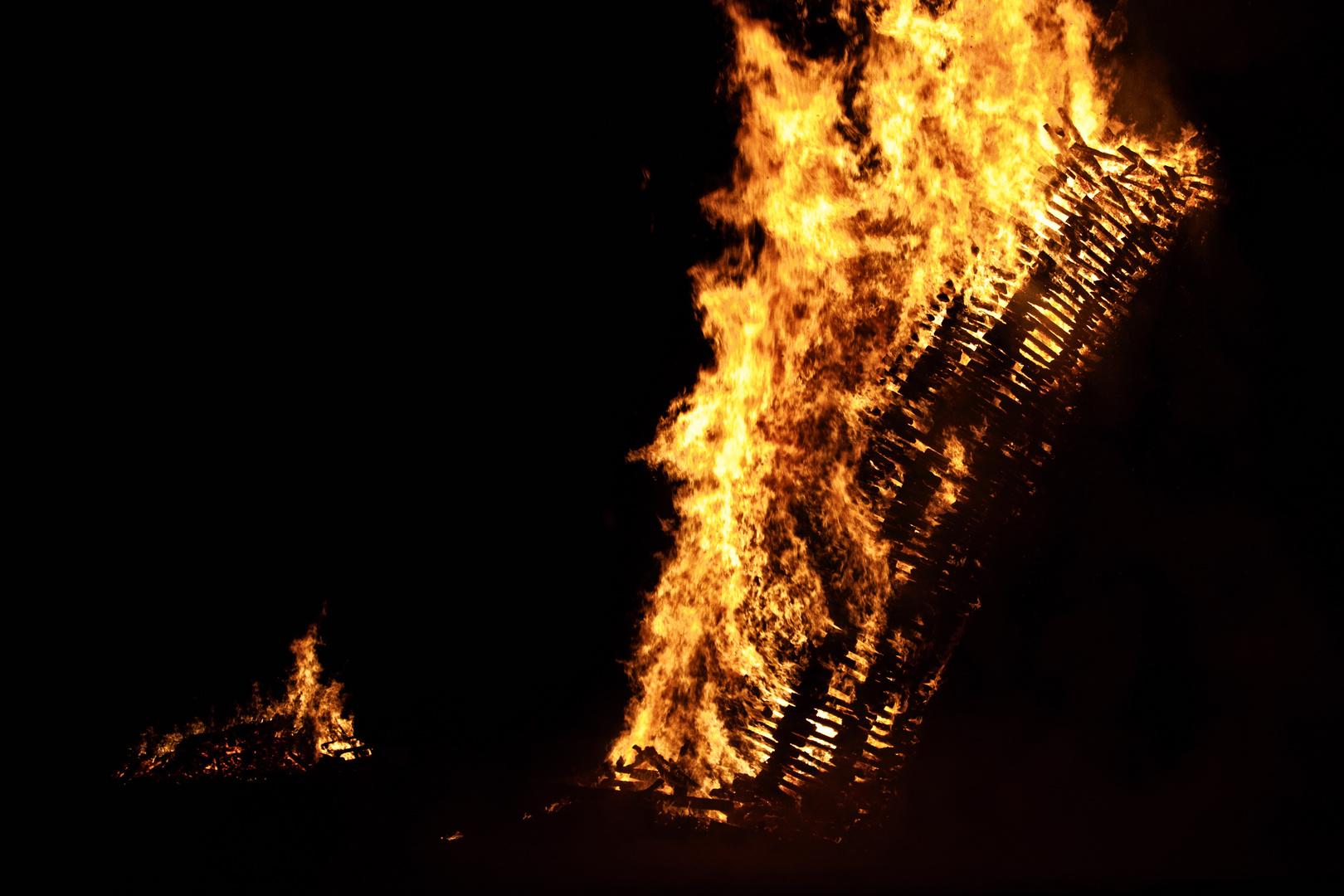Funken in Brand