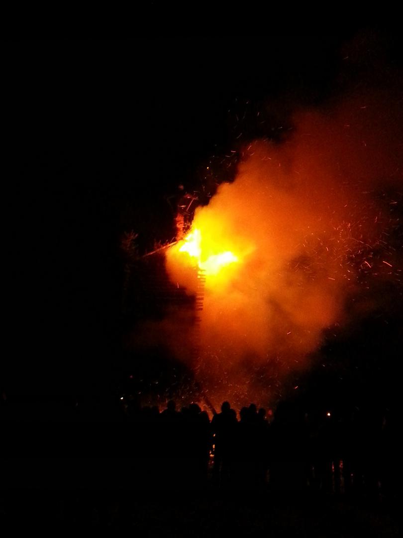 Funkenfeuer in Oberschwaben