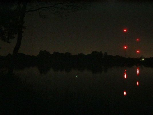 Funkturmsee bei Nacht