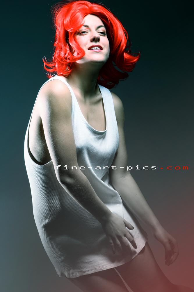 funky redhead....