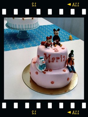 Funny cake for children in Christmas time.
