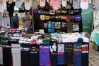 Funny T-Shirts on Flea Market Berlin-Weissensee