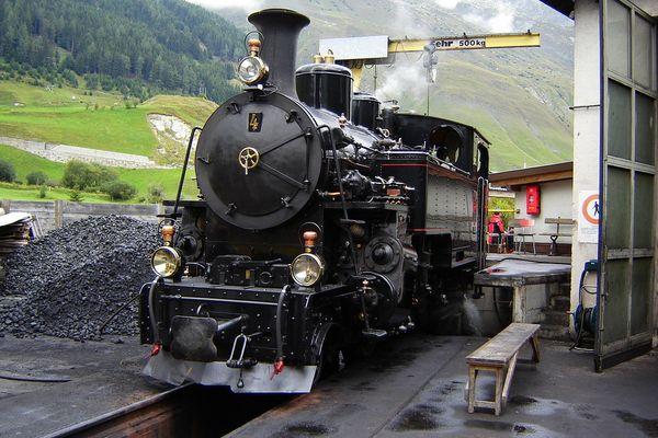 Furka Pass railway. Realp-Switzerland; August 2007
