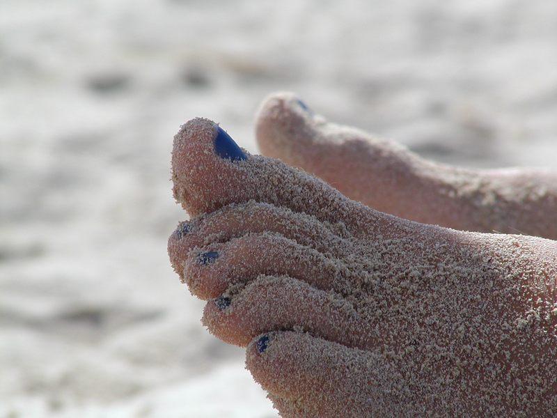Fuss am Strand