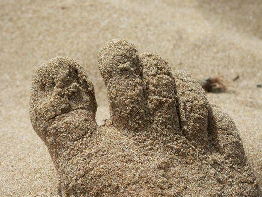 Fuß im Sand
