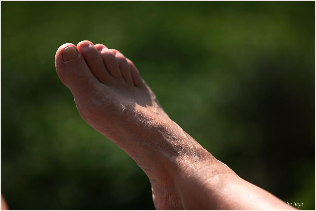 Fuß im Sonnenlicht......