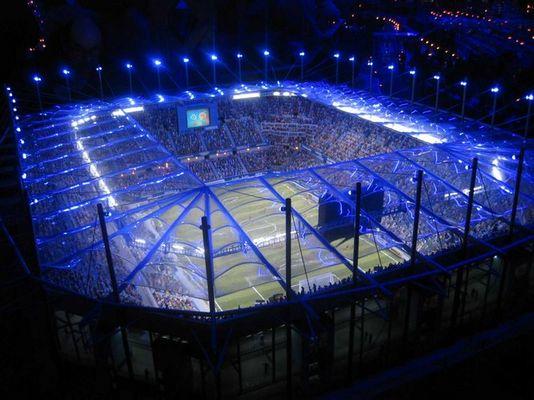 Fußballstadion in Miniatur