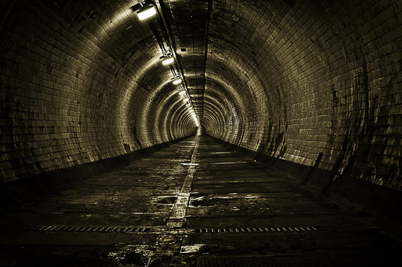 Fussgänger Tunnel unter der Themse