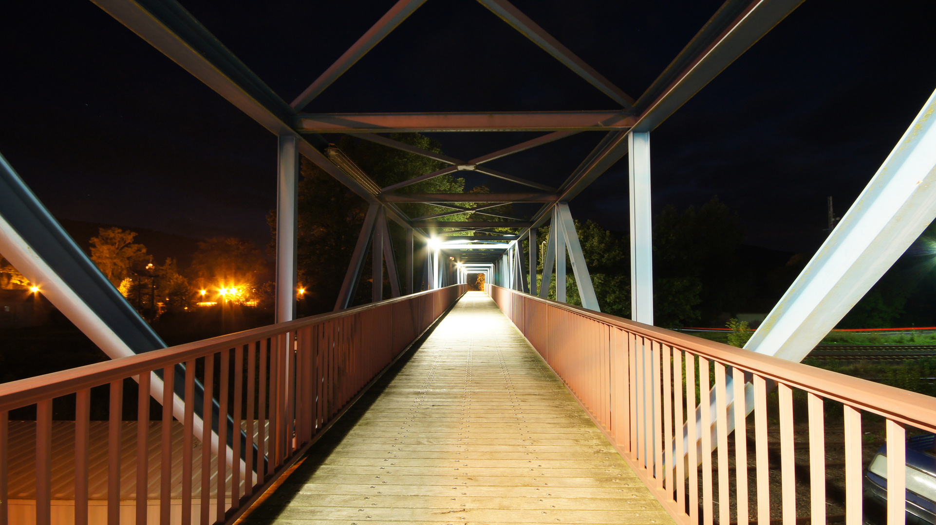 Fußgängerbrücke am Bahnhof Themar