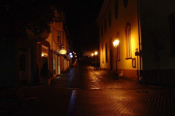 Fußgängergasse in Wetzlar bei Nacht