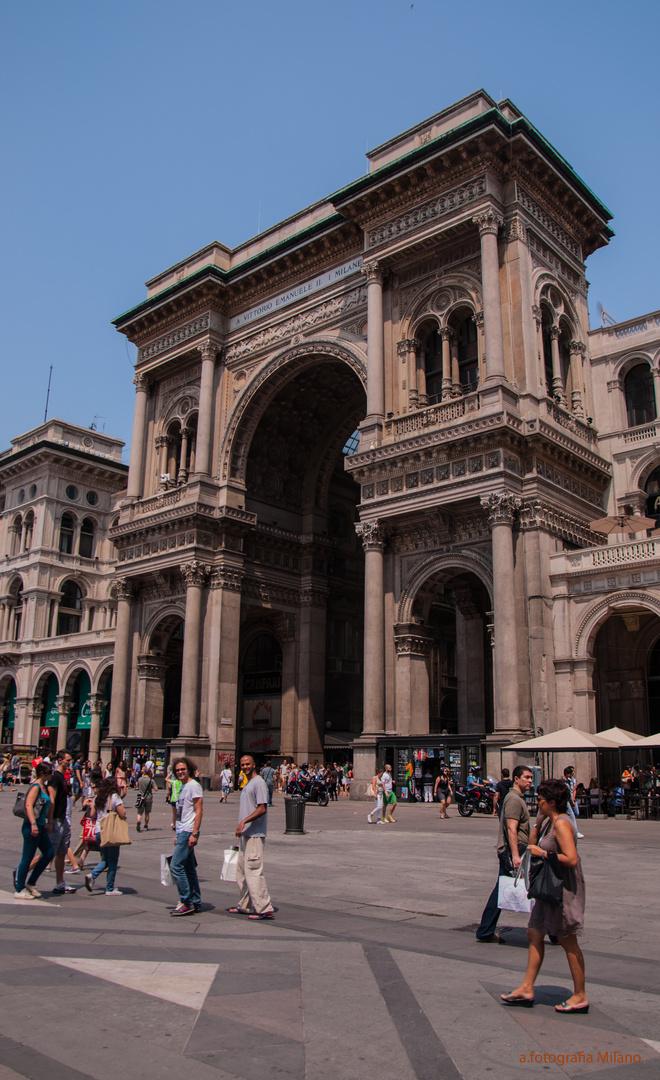 Fußgängerzone von Mailand......
