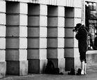 ..fußnaggiger Fotograf mitten in LInz...bei klirrender Kälte