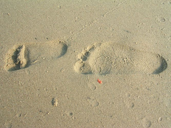 Fußspur im Sand