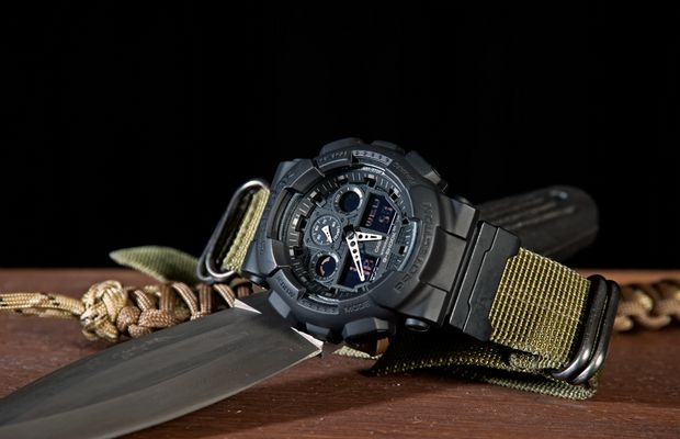 G-Shock Ga-100 am 24mm Zulustrap
