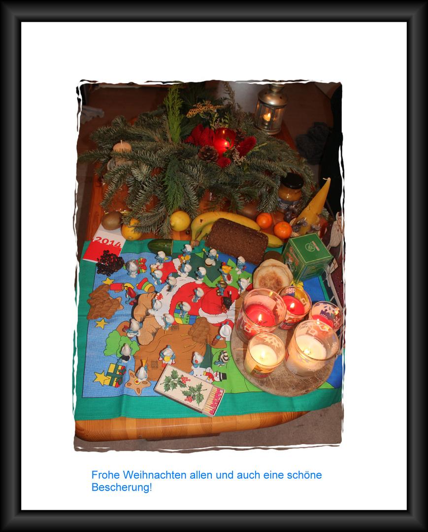 Gabentisch Weihnachten 2013