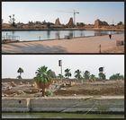 Gänseabstieg am Heiligen See im Karnaktempel