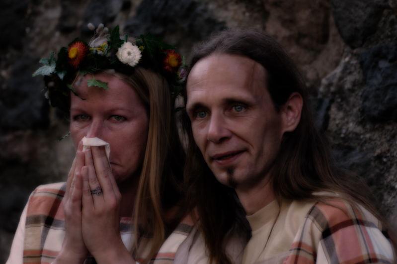 Gäste einer Mittelalterlichen Hochzeit