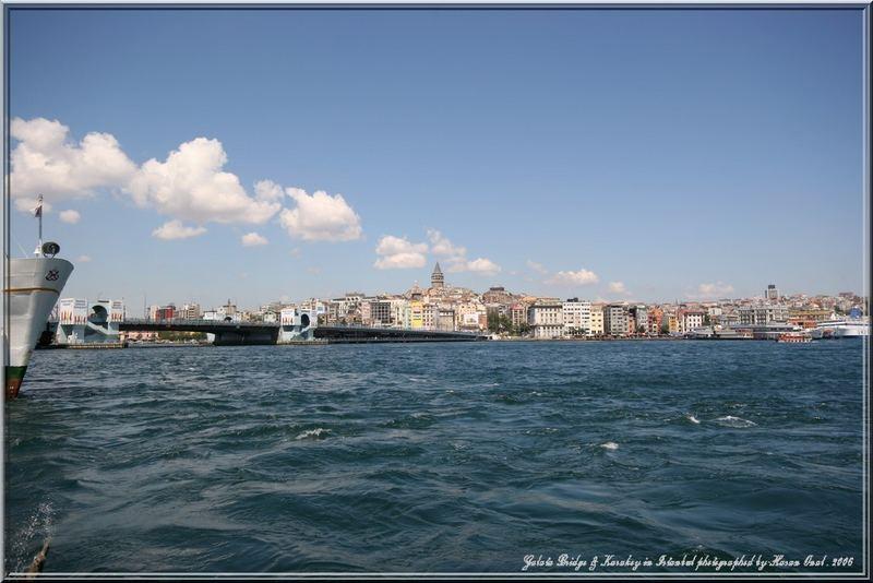 Galata Bridge and Karakoy in Istanbul . 2006