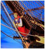 Galionsfigur der Bark-- Seute Deern --Museumshafen in Bremerhaven