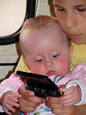Gameboy ------ früh übt sich :-)