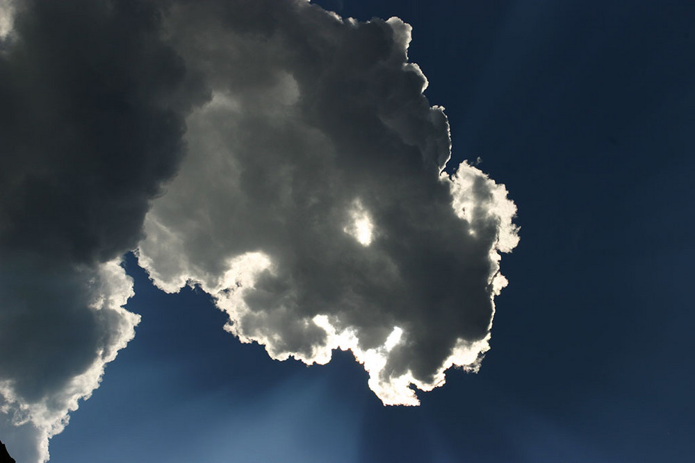 Ganz einfach Wolken :)