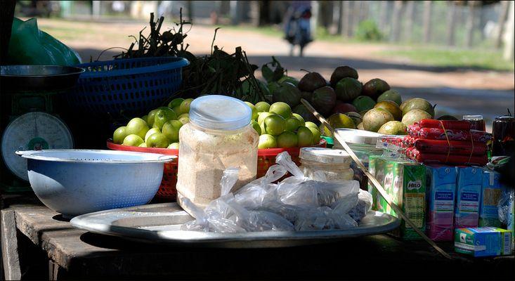 Ganz kleiner Markt in Südvietnam