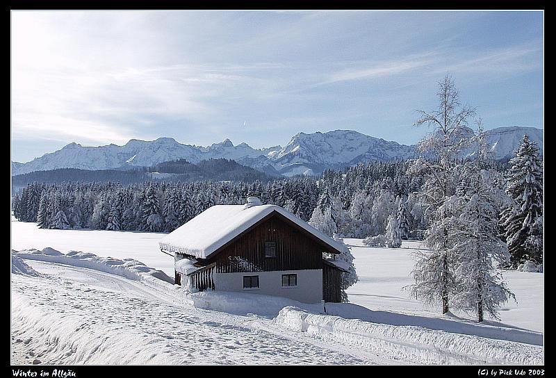Ganz konkretes Allgäu - mit ächtn Schnee - nix aus Kanone