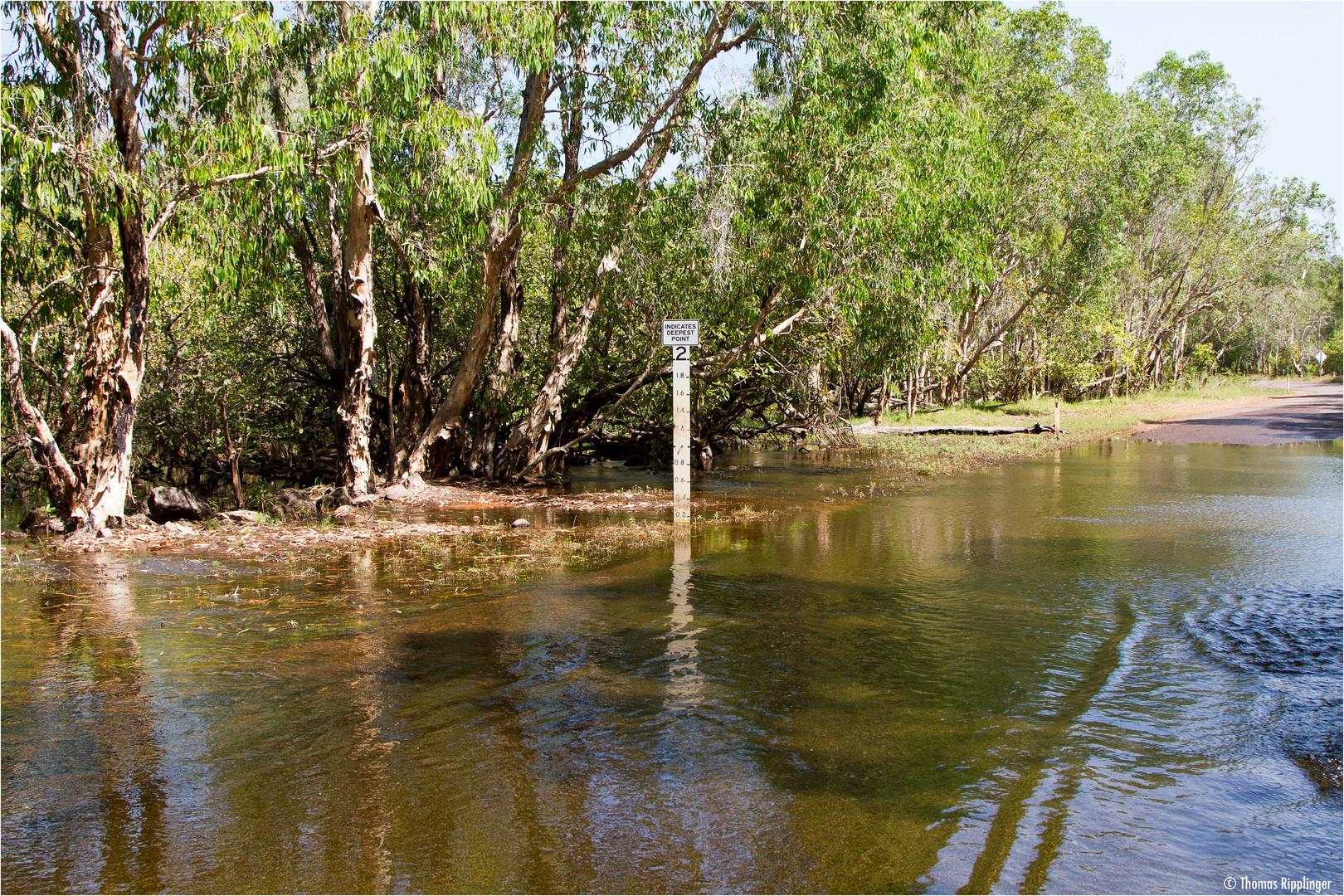 Ganz leichte Überschwemmung....