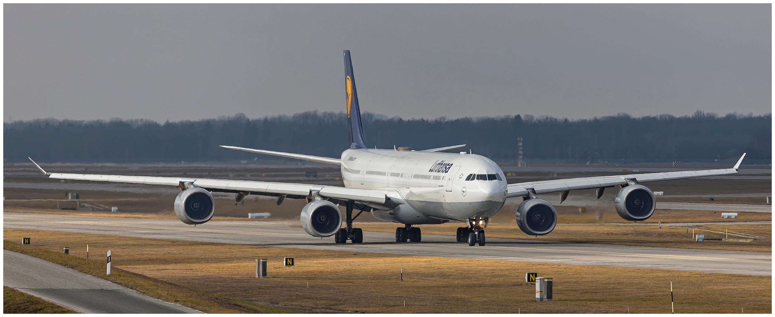 Ganz schön breit, dieser A340-600