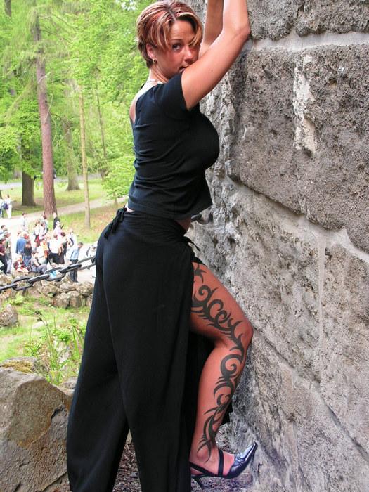 ganz schön steil ... die Wand