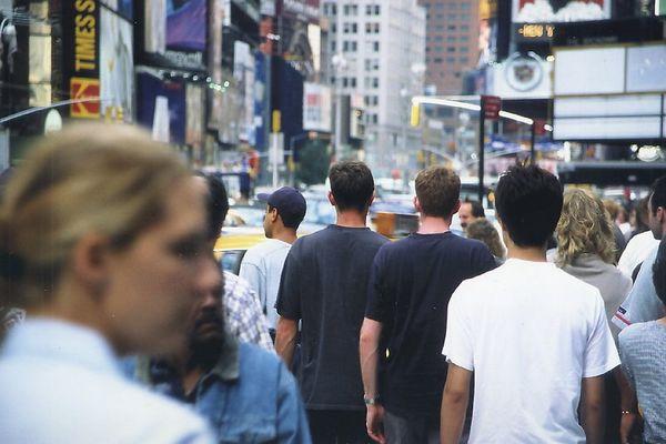 """Ganz schön viele Leute aufm """"Times Square"""""""
