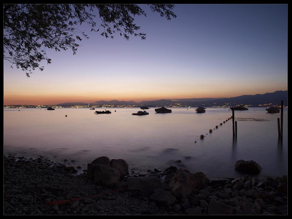 Gardasee bei Nacht